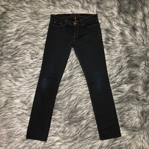 J Brand Dark Denim Straight Leg Jeans Size: 27